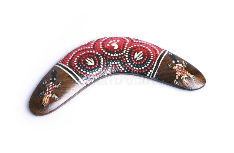 aboriginal Australien bumerang royaltyfri fotografi