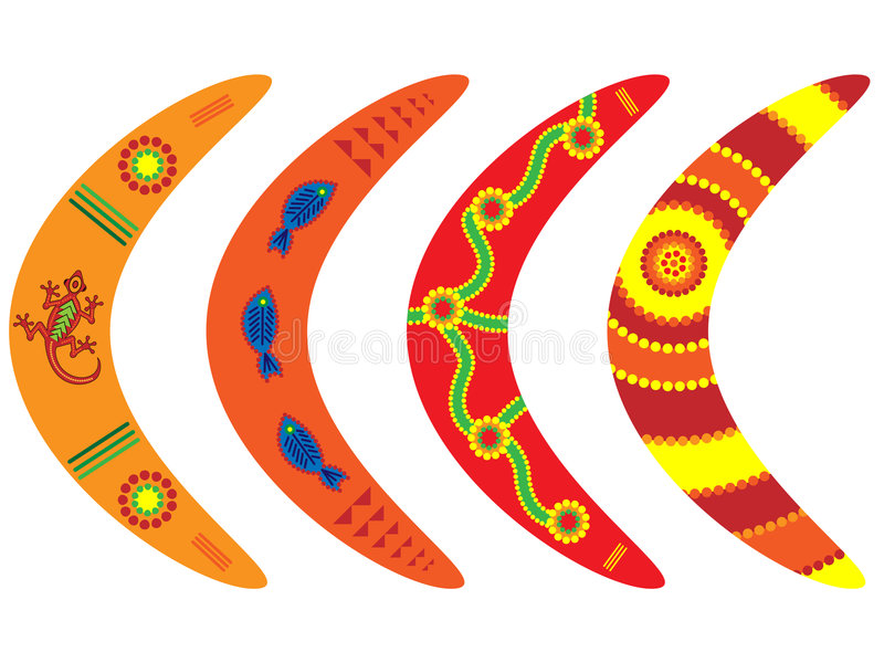 Download Aboriginal Boomerangs stock vector. Image of aboriginal - 5672614