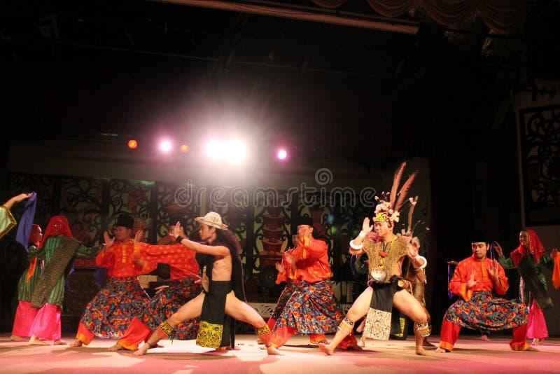 Aboriginal dance sarawak stock image
