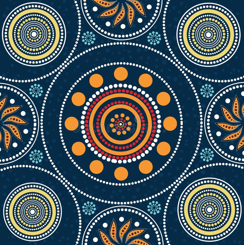 Aboriginal dot art background - Vector Illustration. Aboriginal dot art background. Illustration based on aboriginal style of dot painting royalty free illustration