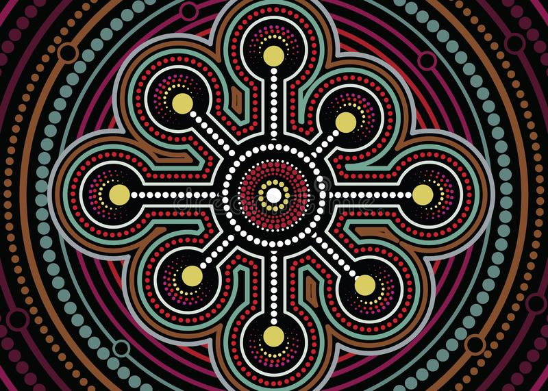 Aboriginal dot art vector painting. Connection concept vector illustration