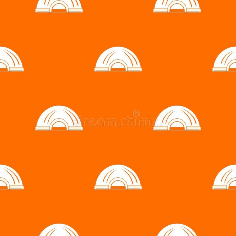 Aboriginal dwelling pattern vector orange. For any web design best stock illustration