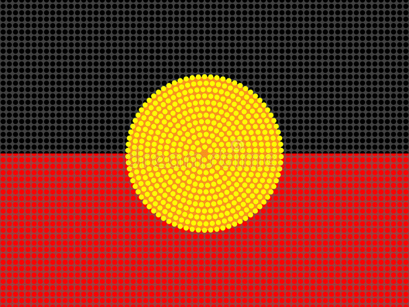 Aboriginal Flag Design vector illustration