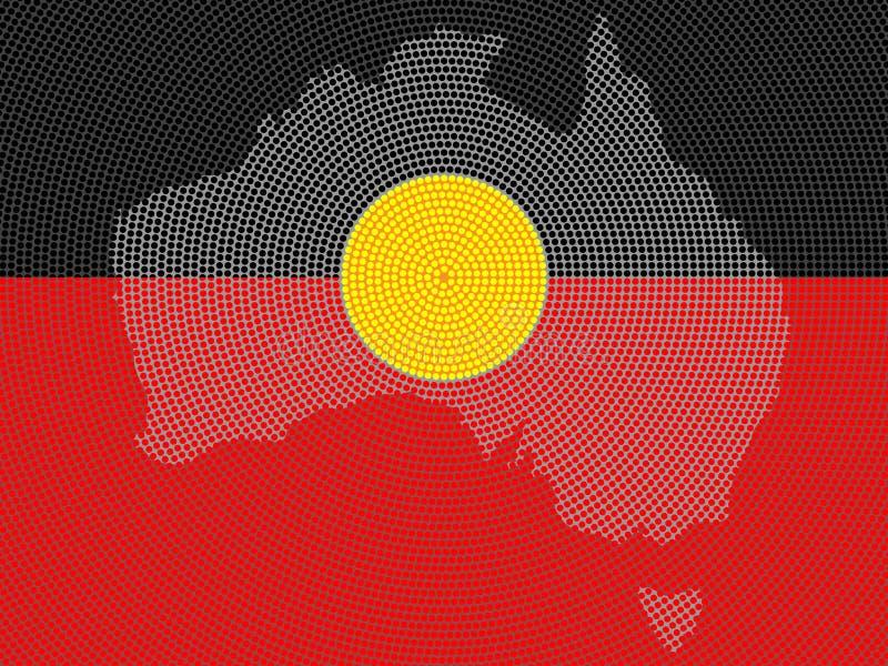 Aboriginal Flag Design. Illustrated background aboriginal style symbolic design vector illustration