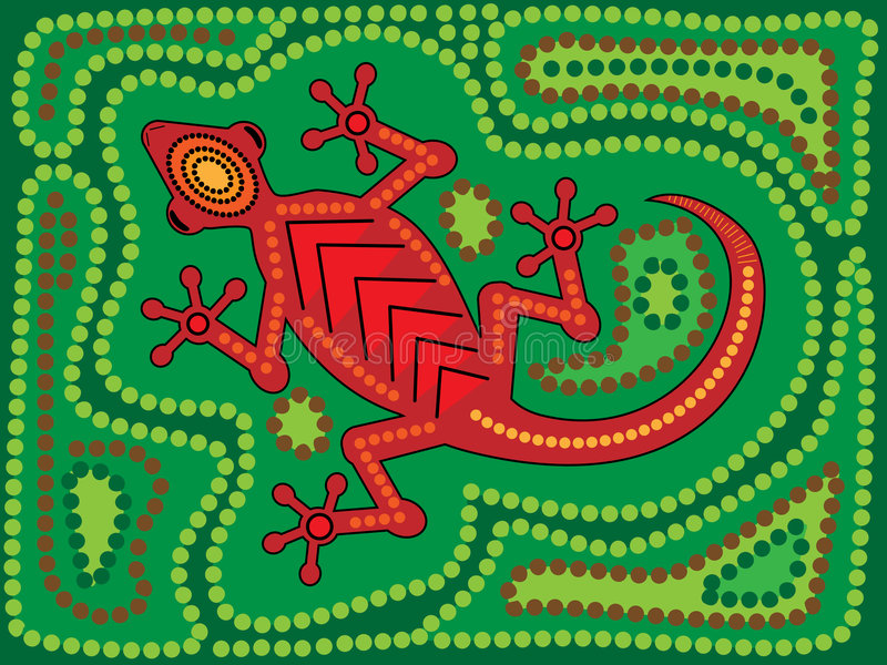 Aboriginal Lizard stock photography