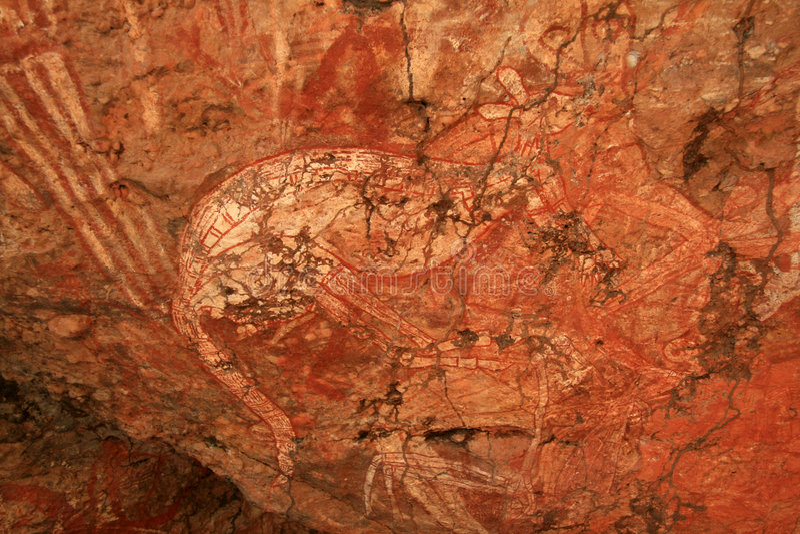 Aboriginal Rock Art , Australia royalty free stock photo