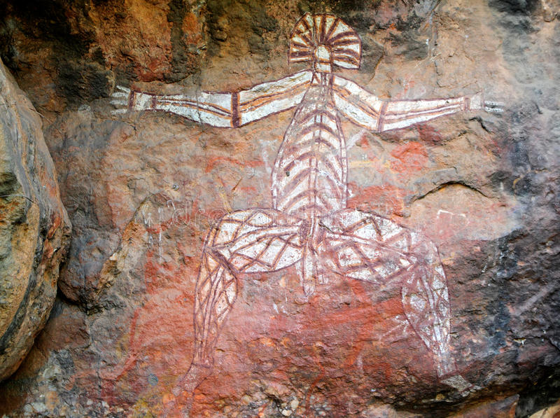 Aboriginal rock art, Nourlangie stock photos
