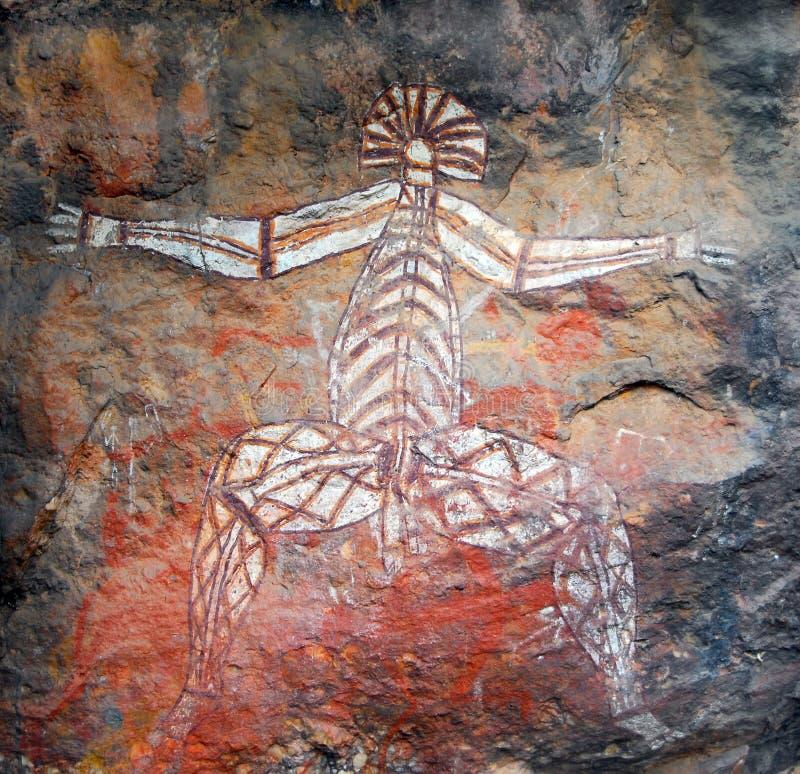 Aboriginal rock painting stock photography