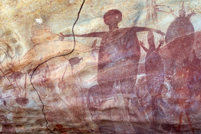 Aboriginal Rock Painting stock photos