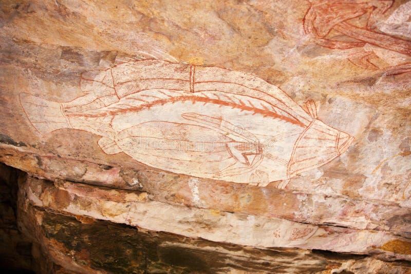 Aboriginal rocks stock photo