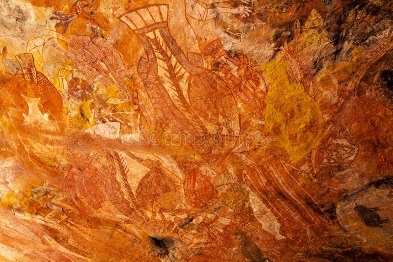 Aboriginal rocks royalty free stock image