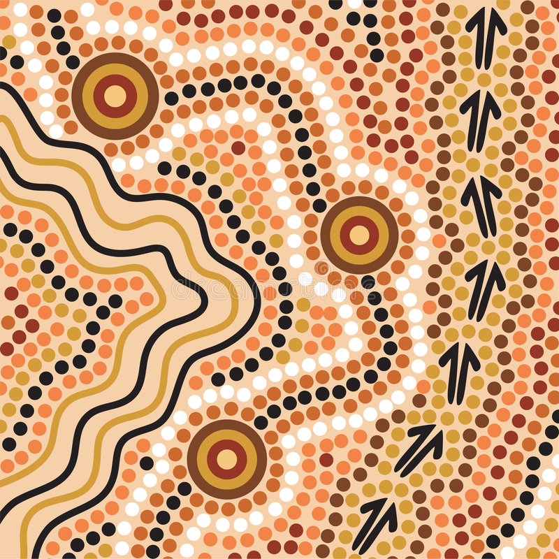 Download Aboriginal Style Background Stock Vector - Illustration of australia, animal: 2833073