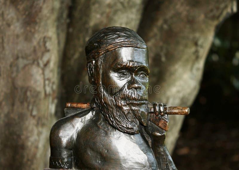 Aboriginal Warrior royalty free stock images