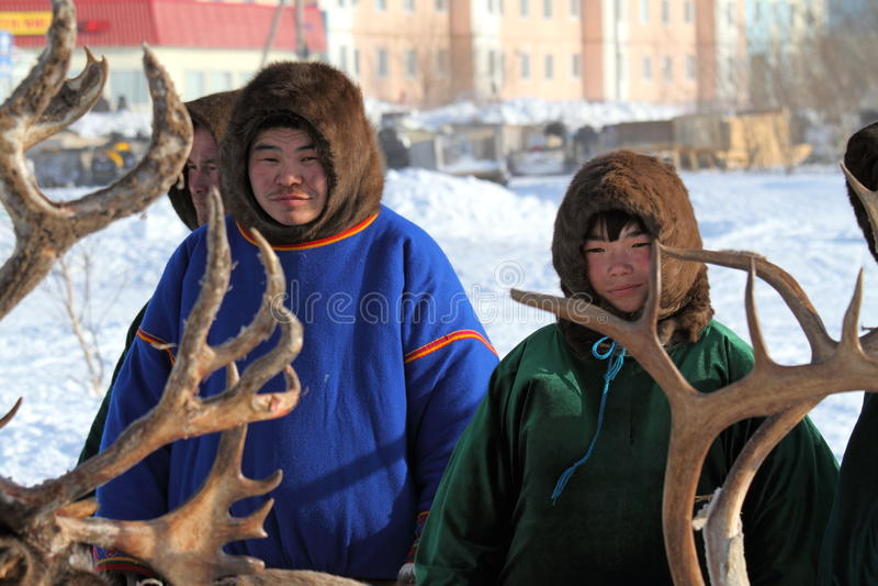 Aboriginals του βόρειου τμήματος της Σιβηρίας στοκ εικόνα με δικαίωμα ελεύθερης χρήσης