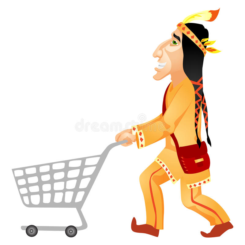 Download Aborigine stock vector. Image of north, costume, american - 31317777