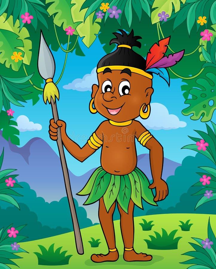 Aborigine theme image 2. Eps10 vector illustration stock illustration