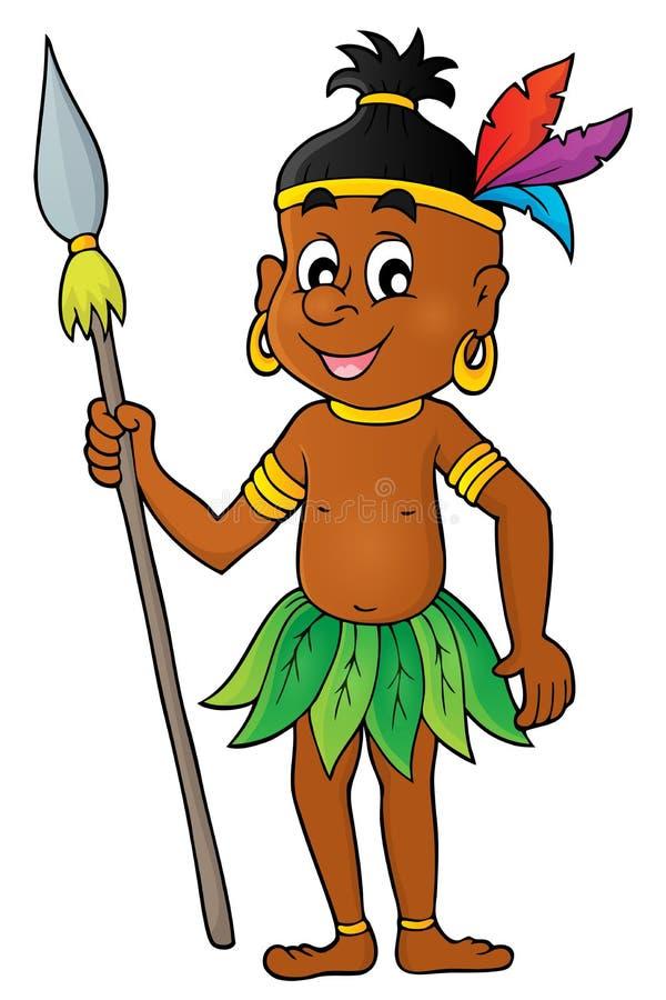 Aborigine theme image 1. Eps10 vector illustration stock illustration