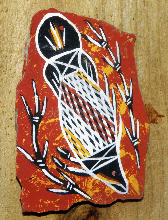 Aborigines art from Australia royalty free stock photography