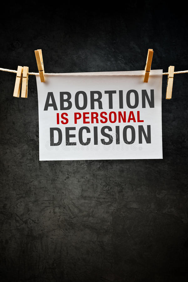 Abortion is personal decision stock photo