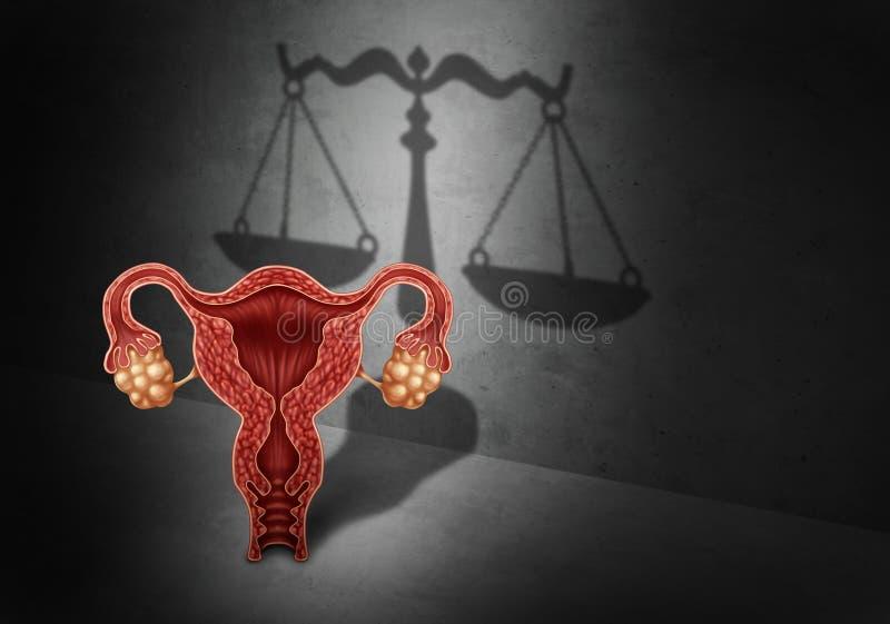 Abortlag stock illustrationer