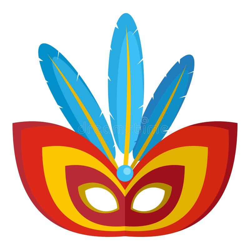 Aborygen maskowa ikona, mieszkanie styl royalty ilustracja