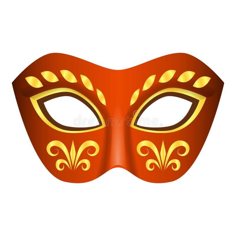 Aborygen maskowa ikona, realistyczny styl ilustracji