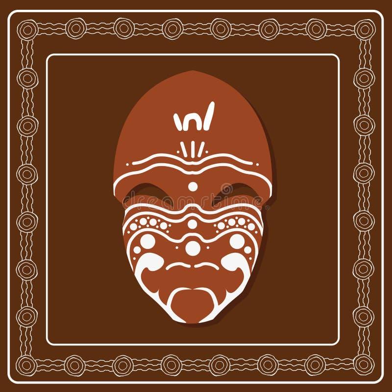 Aborygen maskowa sztuka royalty ilustracja