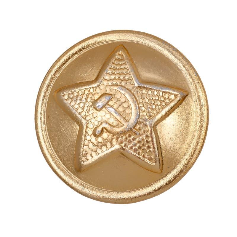 Abotoe com os uniformes do exército vermelho da URSS foto de stock royalty free