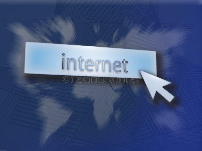 Abotoe o Internet ilustração stock