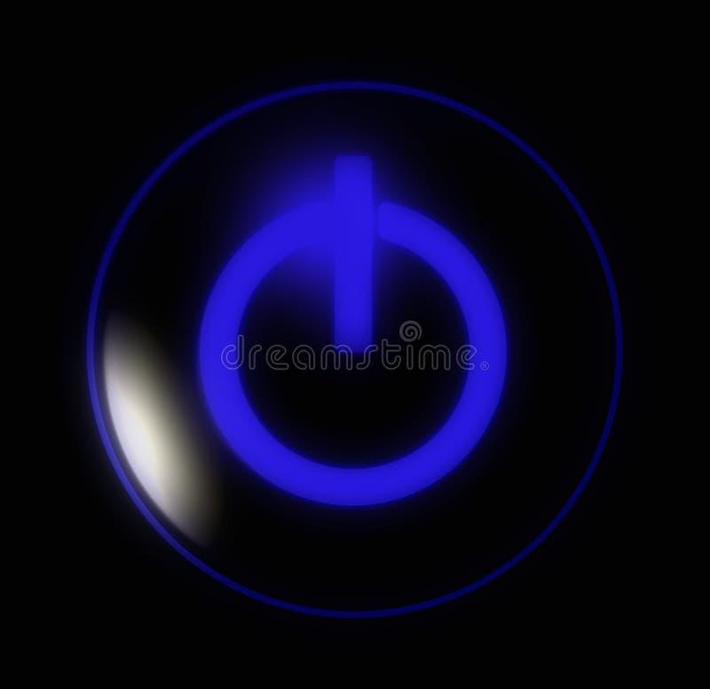 Abotoe a potência azul ilustração do vetor