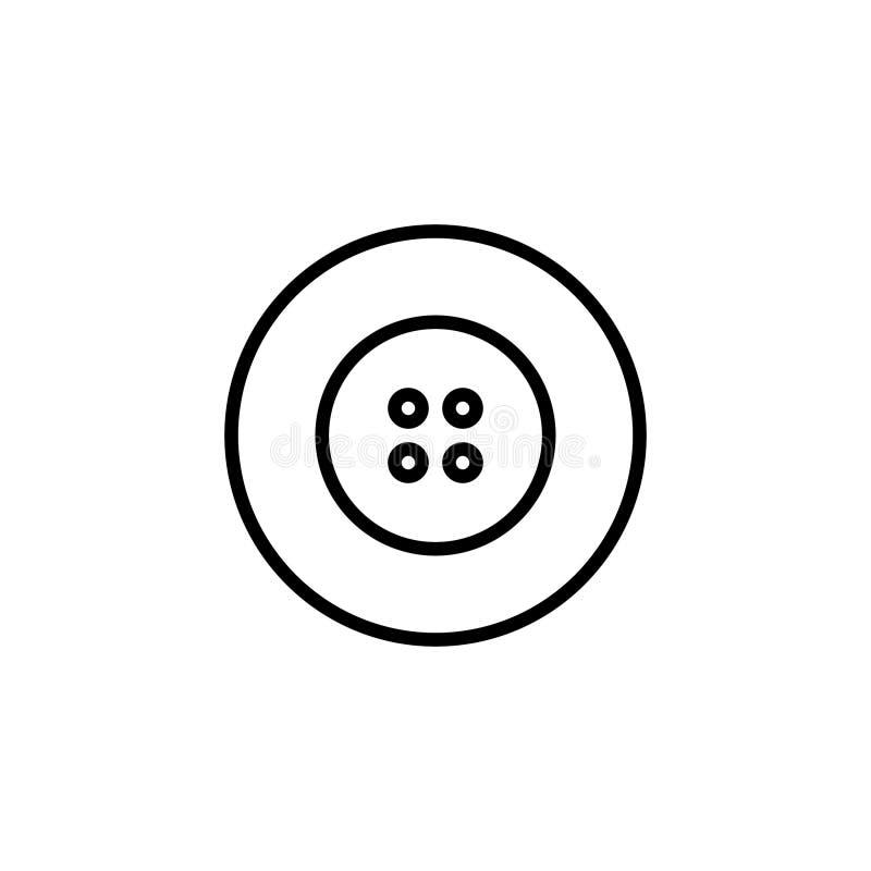 Abotona el icono con la línea estilo Icono de la moda libre illustration