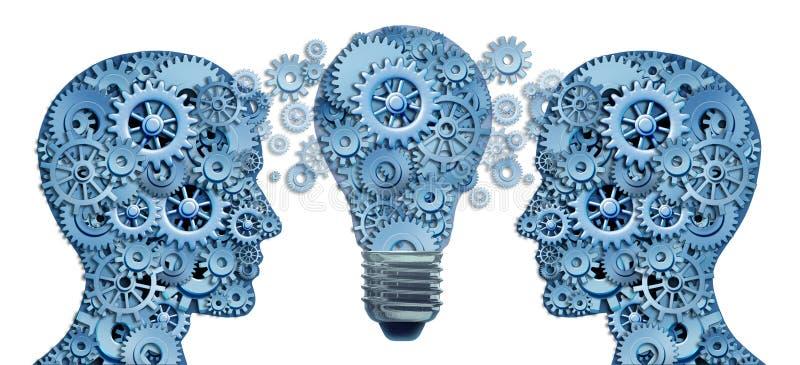 Aboutissez et apprenez la stratégie d'innovation illustration libre de droits