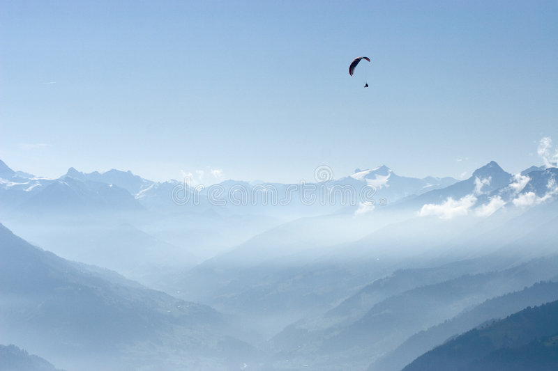 Above Alps. Paragliding in Central Switzerland, above Alps stock photos