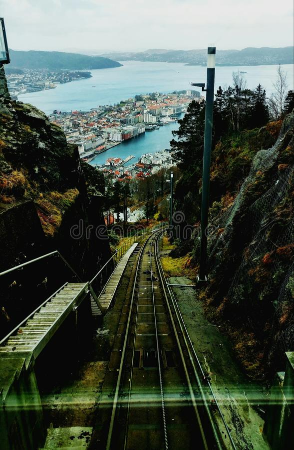 Above Bergen stock photography