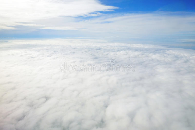 Above the cloud and blue sky. Background royalty free stock images