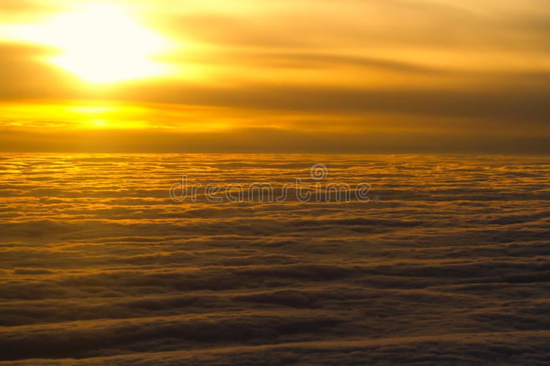 Download Above the clouds stock photo. Image of setting, yellow - 16723830