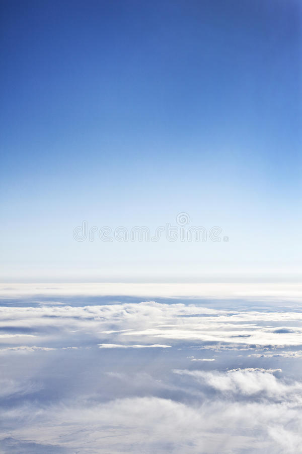 Above the Clouds. And Blue Sky royalty free stock images