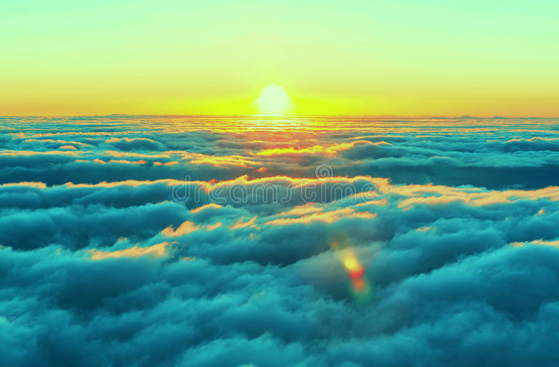 Above clouds stock images