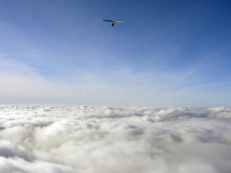 Above clouds royalty free stock images