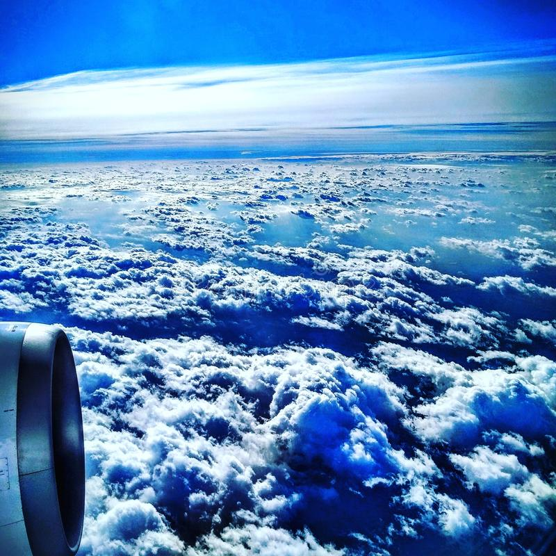 Above the clouds stock photography