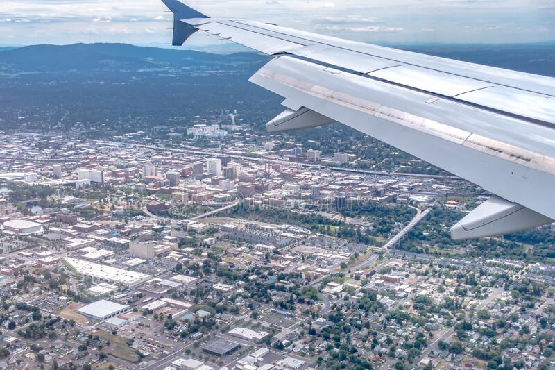 spokane washington downtown and street scenes royalty free stock photography