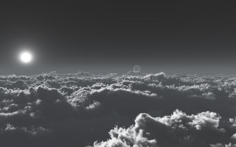 Above The Cold Clouds royalty free stock photos