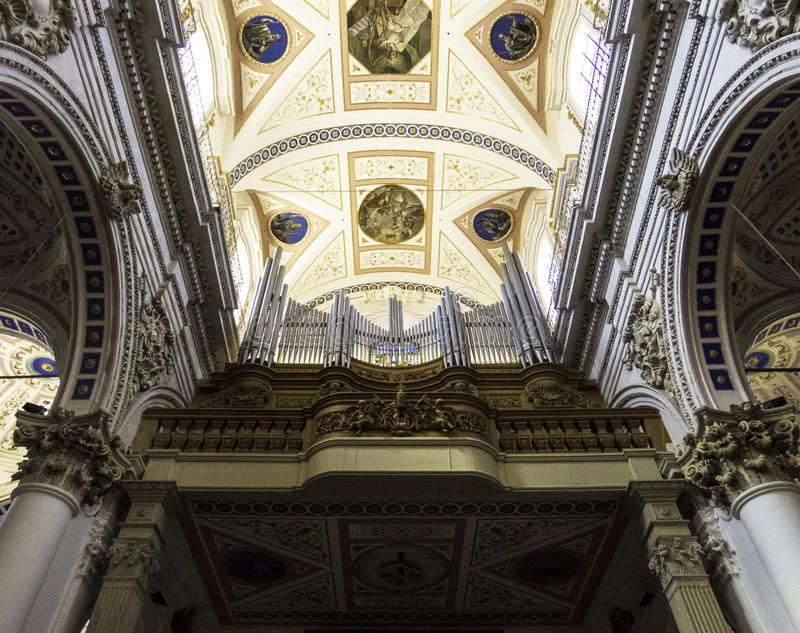 Above the entrance of San Pietro royalty free stock photography