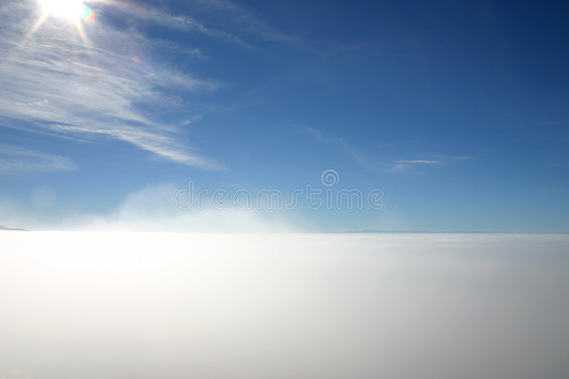 Above the fog royalty free stock photography
