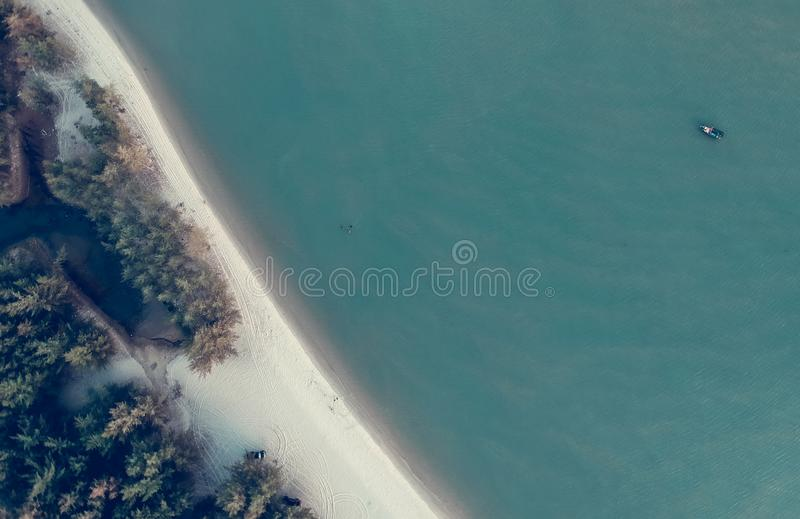 Above Ground Photo of Body of Water stock image