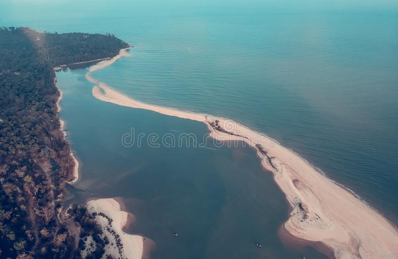 Above Ground Photo of Body of Water on Daytime royalty free stock images