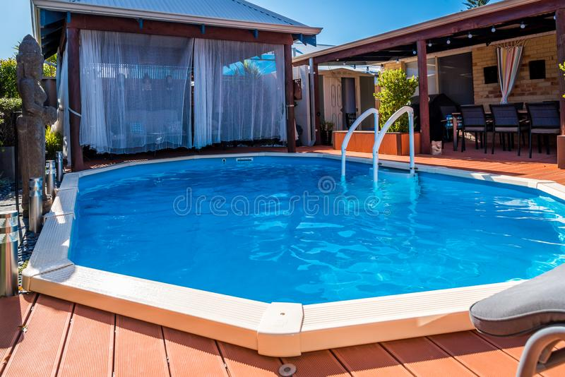 Above Ground Pool Sunken Below Ground And Surrounded By ...