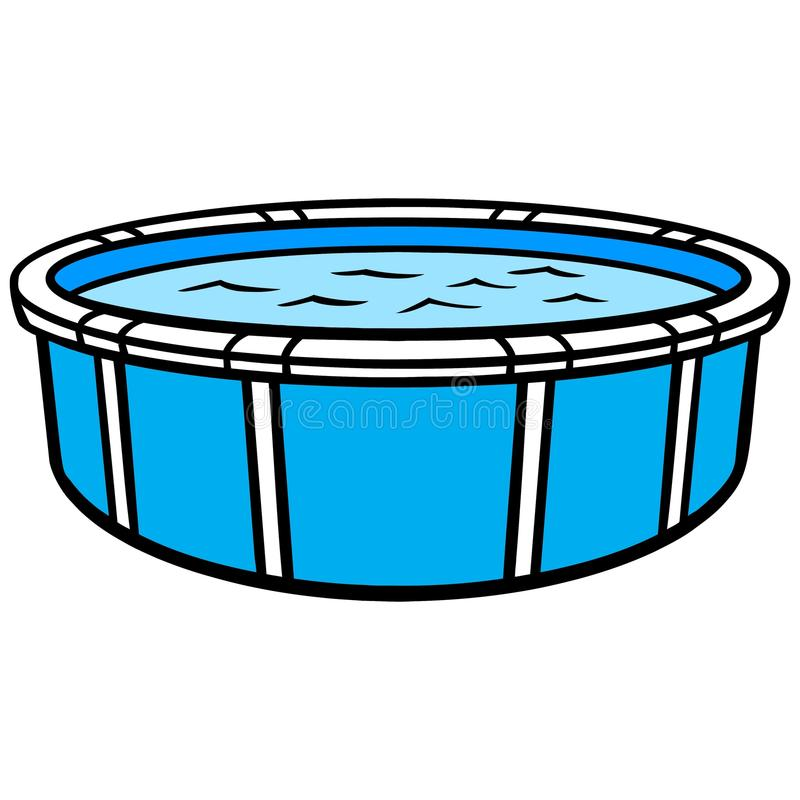 above ground swimming pool stock vector illustration of rh dreamstime com pool cartoon pics pool cartoon pictures