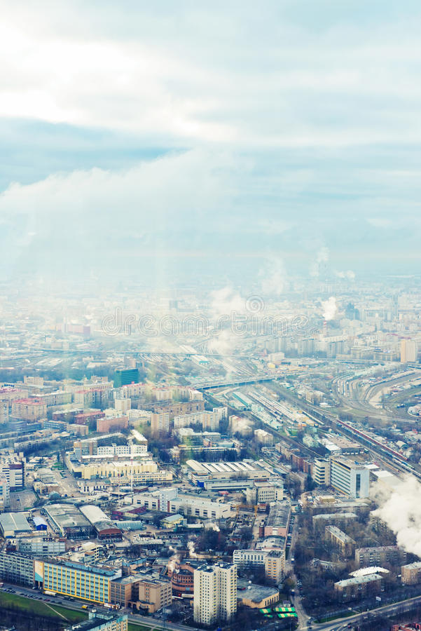 Download Above View Moscow Cityscape In Autumn Stock Photo - Image: 29022010