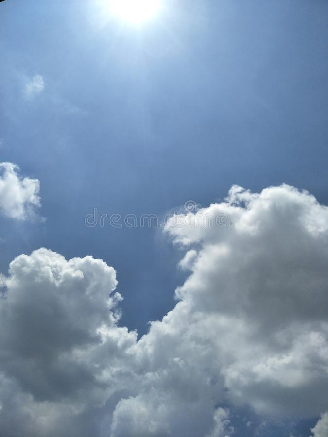 The sky outside the wall royalty free stock images
